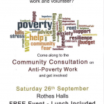 Community Consultation on Anti-Poverty in Glenrothes this Saturday!